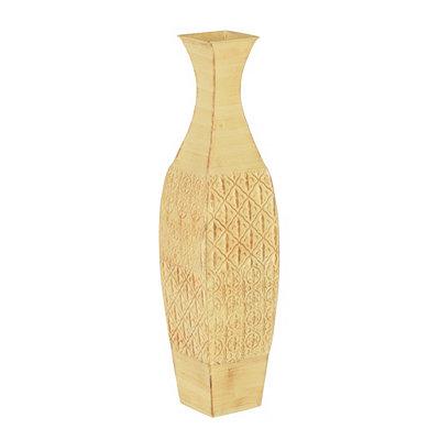 Tan Fleur-de-lis Floor Vase
