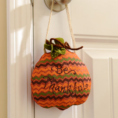 Pumpkin Door Hanger Pillow