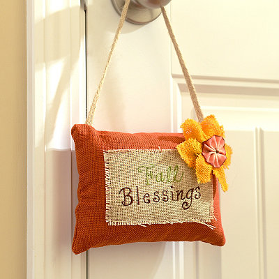 Fall Blessings Door Hanger Pillow