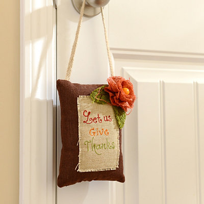 Let Us Give Thanks Door Hanger Pillow