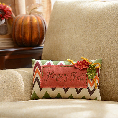 Happy Fall Chevron Pillow