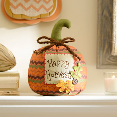 Happy Harvest Burlap Pumpkin
