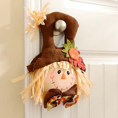 Boy Scarecrow Door Hanger