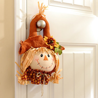 Girl Scarecrow Door Hanger