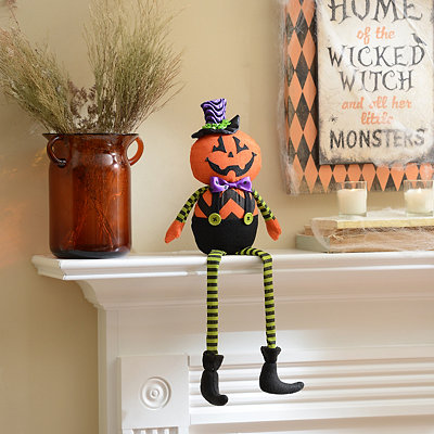 Dapper Jack-O-Lantern Shelf Sitter