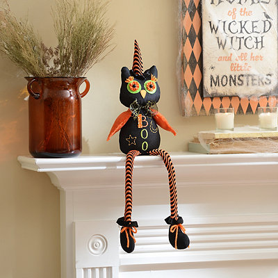 Owl-oween Owl Shelf Sitter