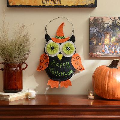 Burlap Owl-oween Wall Hanger