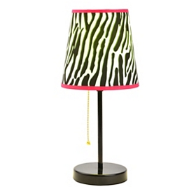 Neon Zebra Print Table Lamp