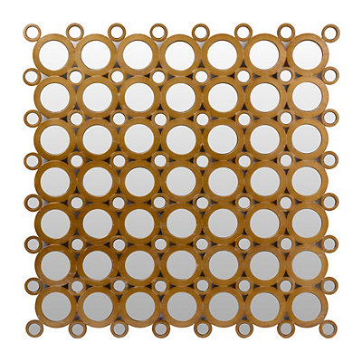 Mirrored Circles Wall Plaque