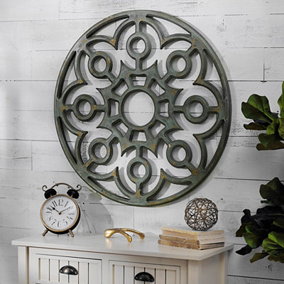 Geometric Floral Wall Plaque