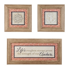 Strength of Our Anchors Shadowboxes, Set of 3