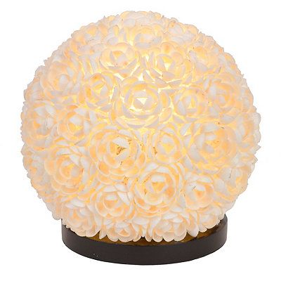 Round Shell Flowers Table Lamp