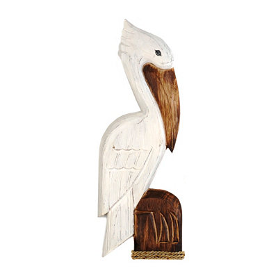 Carved Wooden Pelican