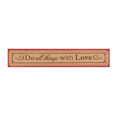 All Things With Love Wall Plaque