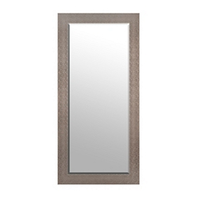 Silver Squares Framed Mirror, 31.5x65.5