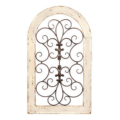 Cosette Distressed Cream Wall Plaque