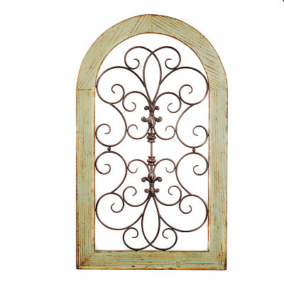 Cosette Distressed Green Wall Plaque