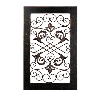 Leah Distressed Black Wall Plaque