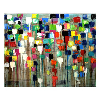 Tapani Color Blocks Canvas Art Print