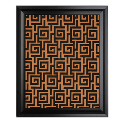 Black Greek Key Corkboard