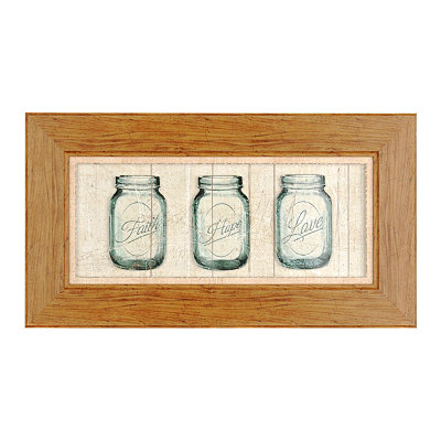 Faith, Hope & Love Mason Jar Shadowbox