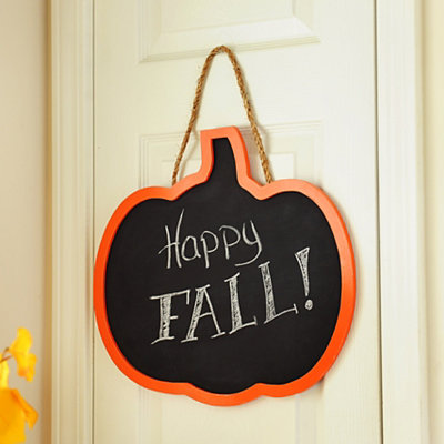 Chalkboard Pumpkin Plaque