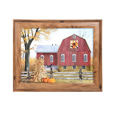 Quilt Barn Harvest Framed Art Print