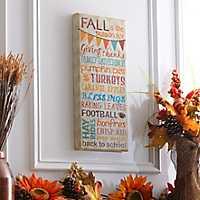 Fall is the Season Canvas Art Print