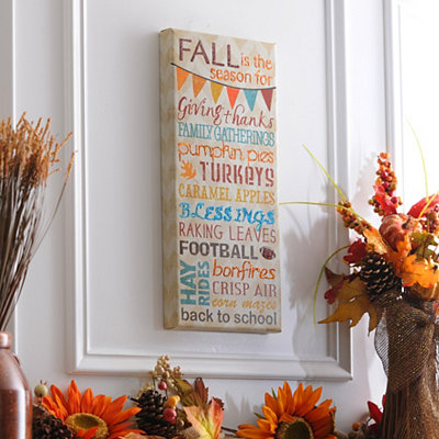 Fall Is the Season Canvas Art Print
