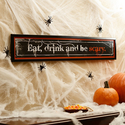 Eat, Drink and Be Scary Framed Art Print