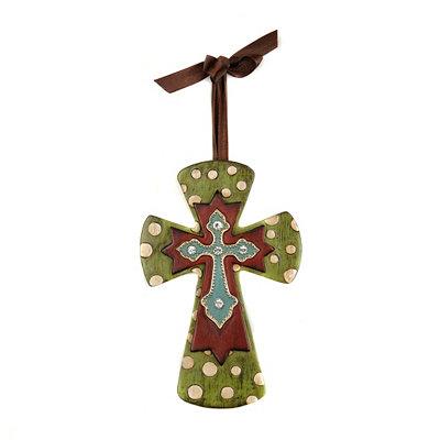 Green Cross Pendant