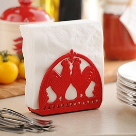 Red Rooster Napkin Holder