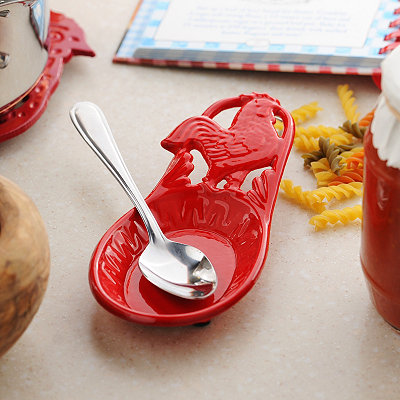 Red Rooster Spoon Rest