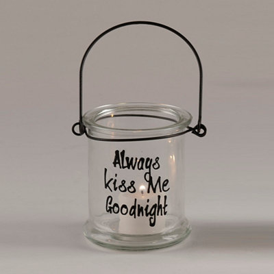 Always Kiss Me Goodnight Lantern