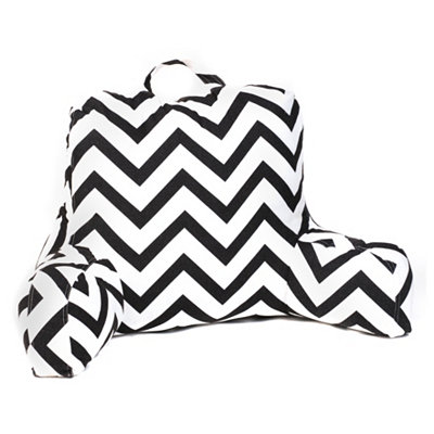 Black & White Chevron Study Pillow