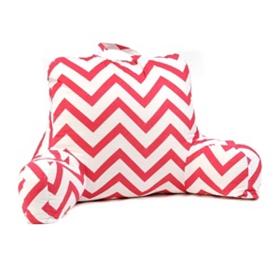 Pink & White Chevron Study Pillow