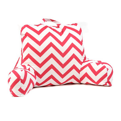 Pink & White Chevron Study Pillow