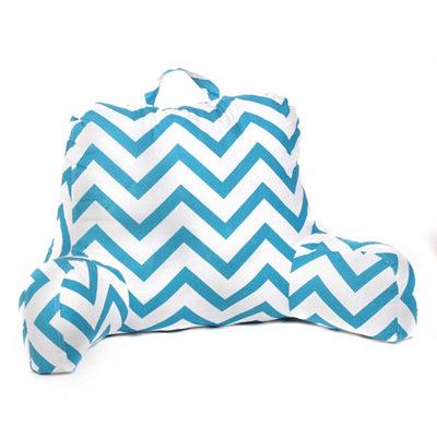 Turquoise & White Chevron Study Pillow