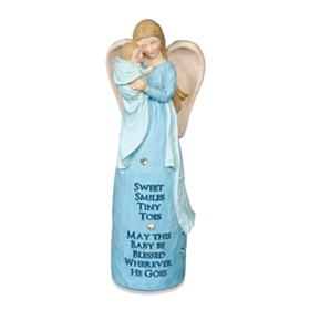 Blue Baby Boy Blessings Angel Statue