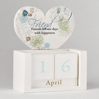 Friends Perpetual Wood Block Calendar