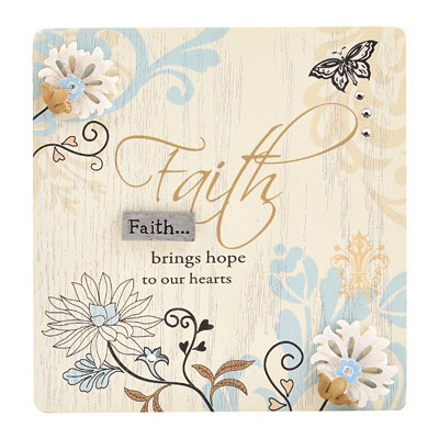 Faith Brings Hope Plaque