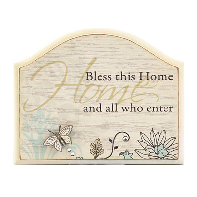 Bless This Home Standing Plaque
