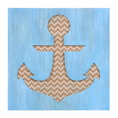 Blue & Tan Anchor Shadowbox