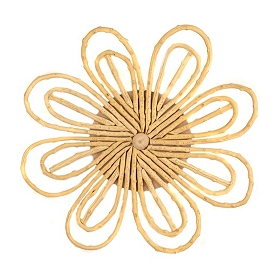 Cream Willow Cane Flower Plaque