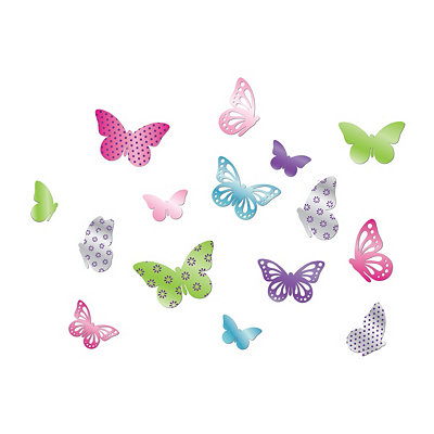 Butterfly Mirrors Wall Decal