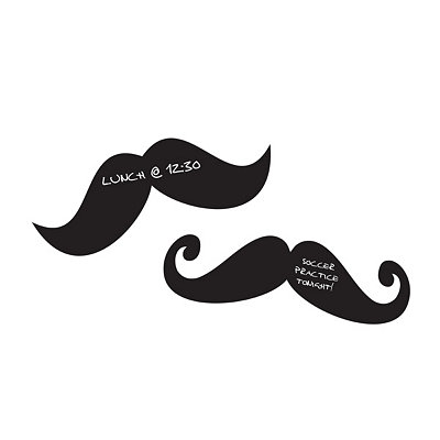 Chalkboard Mustaches Wall Decal