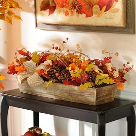 Chevron Harvest Mix Floral Arrangement