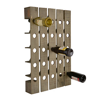 Rustic Wooden Wine Bottle Holder