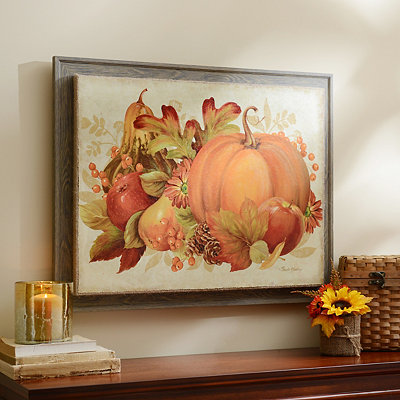 Harvest Bounty Wall Plaque