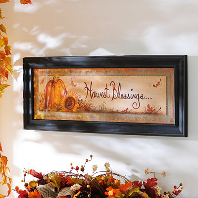 Harvest Blessings Framed Art Print